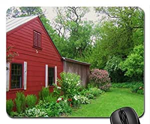 Private Garden in Yellow Springs Ohio Mouse Pad, Mousepad (Houses Mouse Pad)