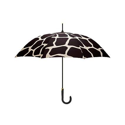 Paraguas plegable Elegante Mango Largo Protección UV Lineal Sol/sombrilla (Color : A)