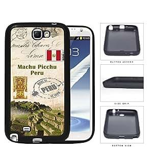 Machu Picchu Postcard Peru Rubber Silicone TPU Cell Phone Case Samsung Galaxy Note 2 II N7100