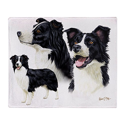 (CafePress Border Collie Multi Soft Fleece Throw Blanket, 50