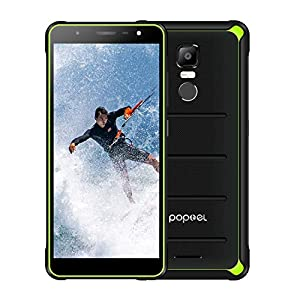 POPTEL P10 Rugged Cell Phones Unlocked, IP68 Waterproof Smartphone with 4G/LTE, Octa Core, 5.5inch 4GB+64GB, Dual Sim Waterproof Camera Utra-Thin Rugged Phones (Blank Green)