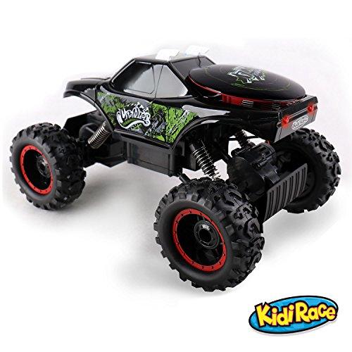 KidiRace Rock Crawler Remote Control Black RC Car