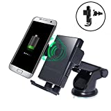 FA-STAR Wireless Charger,Car Holder and Qi Wireless 2-in-1 Cellphone Mount, Charging Pad for Qi Enable Devices, Samsung Galaxy S7/S7 Edge, Galaxy S6/S6 Edge/Plus