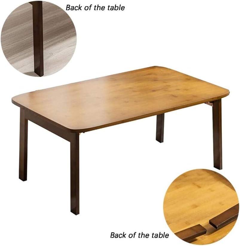 DWLXSH Mesa de café con el Estante de Madera Look Accent Furniture con el Marco de mesas rústicas de café de Brown Nanzhu Mesa Plegable del hogar de Madera Maciza Mesa de