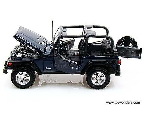Amazon Com 31663bu Maisto Jeep Wrangler Rubicon 1 18 Blue