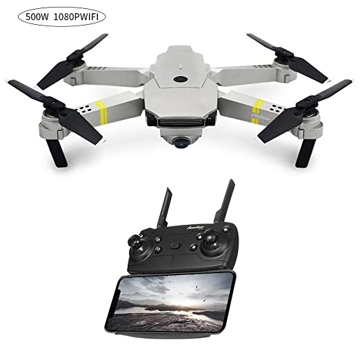 WanNing Mini Drone, helicópteros RC, E58 WiFi FPV con Modo de ...