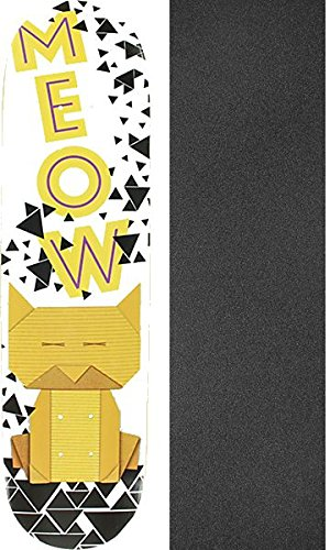 妥協戻す配管工Meow Skateboards Origami猫スケートボードデッキ – 8