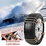 Cable Snow Tire Chain, Tire Anti-Skid Steel Chain Snow Mud Car Security Tyre Belt Snow Tire Chains for Car Truck SUV Anti Slip Emergency Winter Driving 4pcs/6pcs