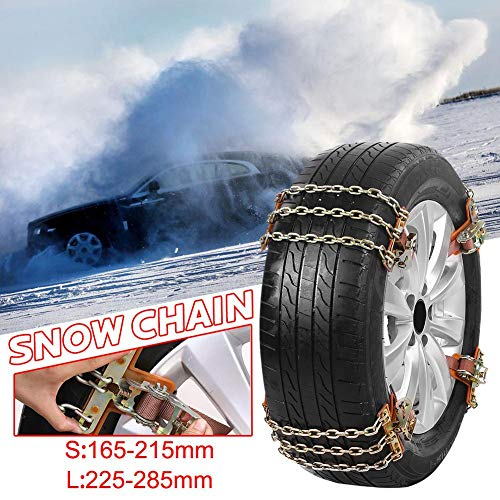Amazon.com: Cable Snow Tire Chain, Tire Anti-Skid Steel Chain Snow Mud Car Security Tyre Belt Snow Tire Chains for Car Truck SUV Anti Slip Emergency Winter ...
