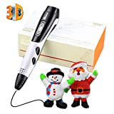 TIPEYE 2018 Newest SmartGear 06A 3D Pen Kits 3D Printing Pen LCD Display Adults, Doodling, Artist, DIY, Drawing etc (06A White 3D Pen)
