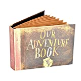 Pulaisen Our Adventure Book Scrapbook Album,Up Movie Handmade Anniversary Photo Album with Bonus Gift Box (Our Adventure Book)