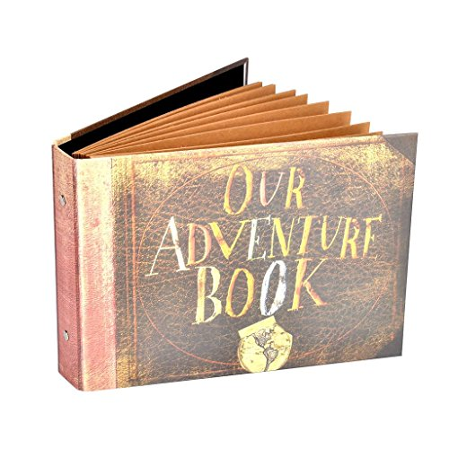 Pulaisen Our Adventure Book Scrapbook Album,Up Movie Handmade Anniversary Photo Album with Bonus Gift Box (Our Adventure Book) by Pulaisen