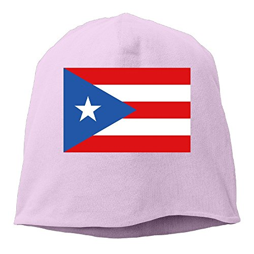 Flag Of Puerto Rico Pink Hedging Knitted Hat Beanies Caps (Floral Print Zelda)