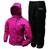 Frogg Toggs Women's All Purpose Rain Suit, Cherry/Black, Medium