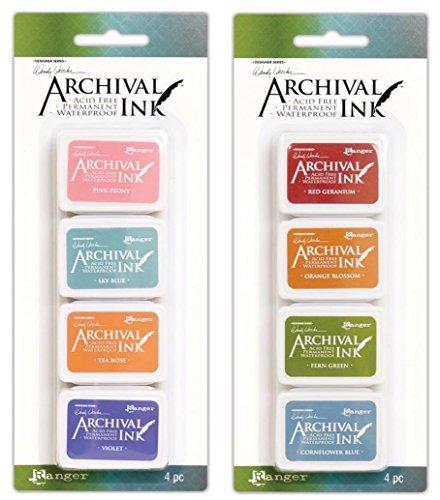 Wendy Vecchi Mini Archival Ink Pads - Kit #3 and Kit #4 - Bundle by Wendy Vecchi