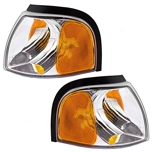 Driver and Passenger Park Signal Corner Marker Lights Lamps Replacement for Mazda Pickup Truck 1F7051131 1F7051121