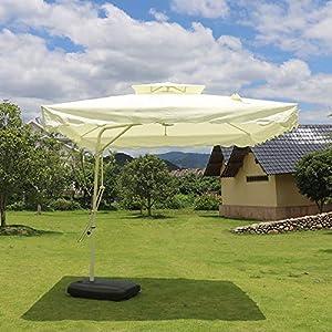 Cantilever Hanging Eccentrico Parasole ombrellone Banana Ombrellone per Esterno, Giardino e Patio, con Un Serbatoio d'Acqua di Base, 2,5 2,5 m * 6 spesavip