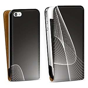 Diseño para Apple iPhone 4 / 4S DesignTasche Downflip white - Black Sphere