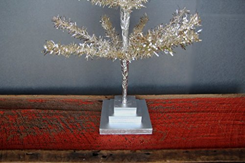 24'' Silver Christmas Tinsel Tree Retro Style Silver Feather Tinsel Tree by Lee Display (Image #2)