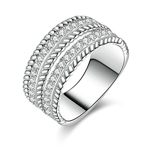 [Epinki Women Rings, 925 Sterling Silver Ring Proposal Ring 2 Series Cubic Zirconia Size 10.5] (Diy Half Man Half Woman Costume)