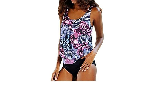 Bikinis Push Up Mujer Lanskirt Bikini Mujer Bunt 2Pcs Ropa De BañO BañAdor Halter Traje De BañO 2019 Conjunto De Bikini BañAdor NatacióN Mujer Tallas ...