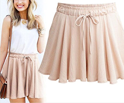 Jambe Femme Large Fashion Simple Court Haute Baggy Pantalons Casual Cordon avec Hot Rose Taille Fashion t Confort Pants Shorts qw46pOEw
