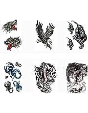 Pinkiou Tijdelijke tatoeages Stickers Waterdichte lichaamsstickers