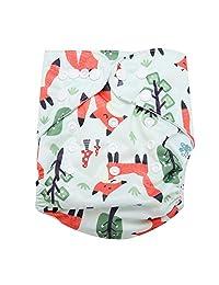 Swim Diapers, Adjustable Reusable Fiber Polyester Infant Swim Diaper Baby Washable Pocket Cloth Hook Loop Operating System(BL002)
