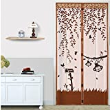 Magnetic Screen Door Reinforced with Heavy Duty Mesh Curtain and Full Frame Velcro , Various colors and sizes to Fit Your Door , Keep Bugs out Let Fresh Air In (Coffee)