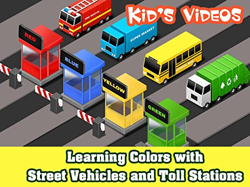 Learning Colors with Street Vehicles and Toll Stations