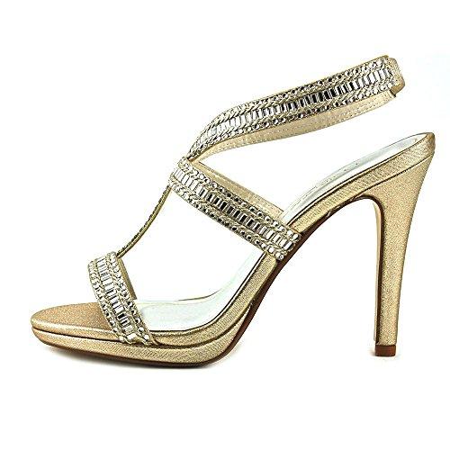 Naisten Kangas Caparros Slingback Kultametallivärillä Avoin Erikoinen Givenchy Kärki Sandaalit pH1aFq