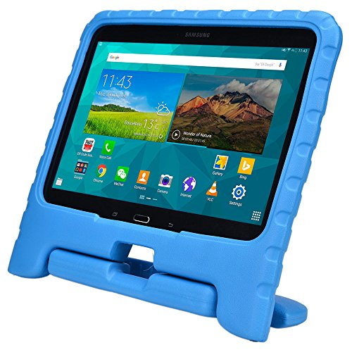 Price comparison product image Samsung Galaxy Tab 4 10.1 & Tab 3 10.1 kids case, COOPER DYNAMO Rugged Heavy Duty Children Boys Girls Drop Proof Protective Case Cover Handle, Stand SM-T530 T531 T535 GT-P5200 P5210 P5220 Blue