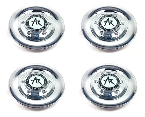Set (4pcs) American Racing Chrome Wheel Center Caps Snap-In 5. 9