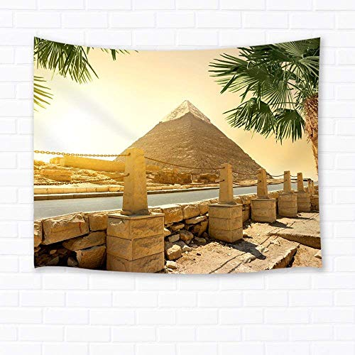 - Places of Interest Wall Art Home Decor Famous Egypt Pyramid Tapestry Wall Hanging for Bedroom Living Room Dorm