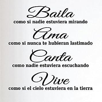 Ambiance-Live - wandtattoo sticker, Zitat Spanisch: \
