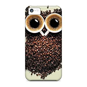 Premium Durable Cool Owl Coffee Fashion Tpu Iphone 5c Protective Case Cover BY supermalls