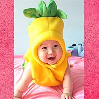 Fruit of the Woom Cute Baby Yellow Pineapple Costume (Infant)