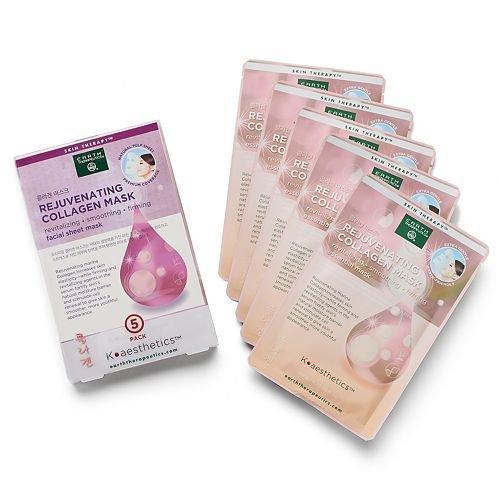 Earth Therapeutics 5 pack Rejuvenating Collagen Face Masks
