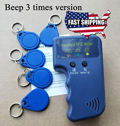 Portable Handheld Card Writer/Copier Duplicator for 125KHz RFID Cards