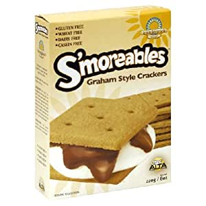 Kinnikinnick, Cracker Smoreable Grhm Wf, 8-Ounce (6 Pack)