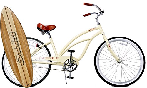 Fito Marina Alloy Single 1-Speed Women – Vanilla, 26 Beach Cruiser Bike Bicycle, Step-Through Crank fordward Design, Limted Qty Offer