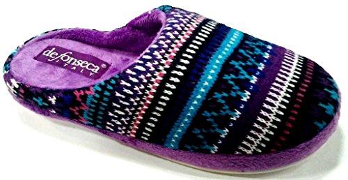 DE FONSECA ciabatte pantofole invernali da donna mod. LOCANDA VIOLA