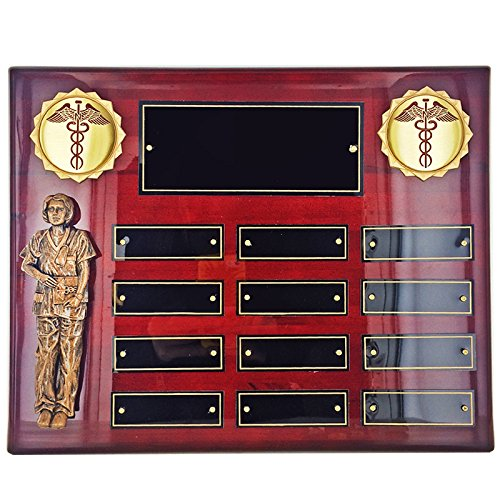 (Customizable Perpetual Rosewood Piano Finished Nurse Plaque, includes Personalization )