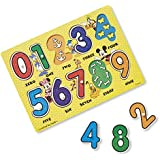 Melissa & Doug Mickey Mouse Clubhouse Wooden Numbers Peg Puzzle