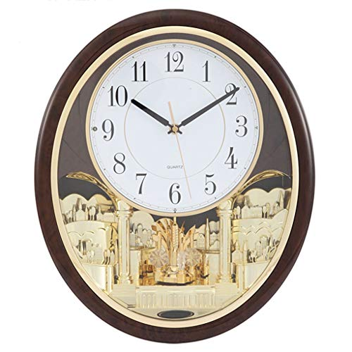 Wall Clock Musical Motion Music Melodies Non Ticking Decorative Living Room Decor Bedroom Silent Night Large