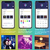 Govee LED Light Bulb Dimmable, Music Sync RGB Color Changing Light Bulbs A19 7W 60W Equivalent, Multicolor Decorative No Hub Required Smart LED Bulbs with APP for Party Home