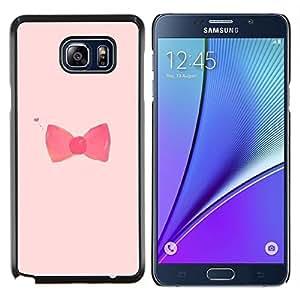 YiPhone /// Prima de resorte delgada de la cubierta del caso de Shell Armor - arco pajarita diseño rosado rojo de moda - Samsung Galaxy Note 5 5th N9200