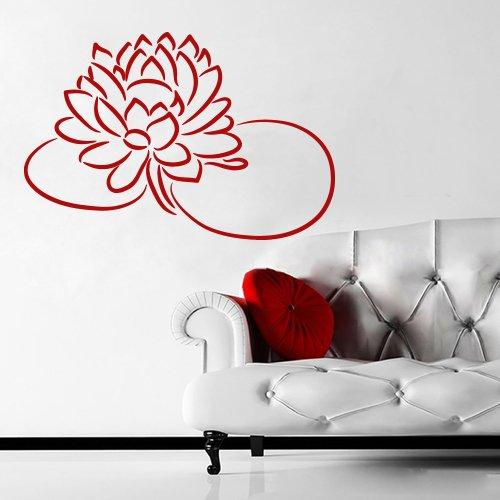 Wall Decal Art Decor Decals Sticker Flower Lotus Beauty Plant Longevity Luck Symbol Cleanliness Heart Mind Tibet India (M111)