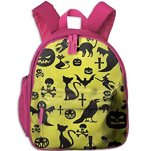 Kid's Pre School Backpack Boy&girl's Black Halloween Holiday