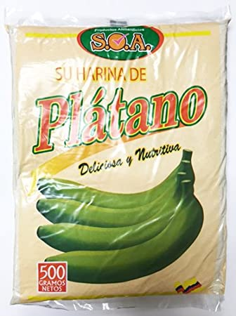 Harina de Platano 500 grs. (Plaintain Flour Nutritious Starch 1.1 lbs.)